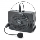 KM-678 Multi-Media Speaker w/3.5mm Audio Port, SD/Flash Drive and Microphone Included - Black
