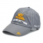 Stylish Water Resistant Baseball Cap Hat with Magnetic Ball Marker - Cobra Logo (Grey)