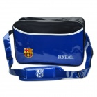 FCB Barcelona Football Club Badge PU Leather Casual Message One Shoulder Bag - Blue