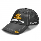 Stylish Water Resistant Baseball Cap Hat with Magnetic Ball Marker - Cobra Logo (Black)
