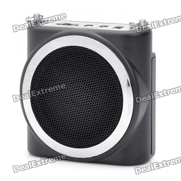 KIMAFUN Multi-Function Megaphone Voice Amplifier Music Speaker - Black portable professional 2 4g wireless voice amplifier megaphone booster amplifier speaker wireless microphone fm radio mp3 playing
