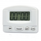"2"" LCD Electronic Memory Timer Clock - White (1 x AAA)"