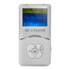 "Stilvoller MP3-Player w/1.4 ""Bluelight LCD - Weiß (2GB)"