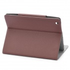 Protective Leather Holder Case for The New Ipad - Coffee