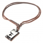 Fashion Cool Punk Style Pendant Necklace - Brown (Capricorn Theme)