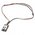 Fashion Cool Punk Style Pendant Necklace - Grey + Coffee (Taurus Theme)