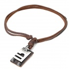 Fashion Cool Punk Style Pendant Necklace - Brown (Libra Theme)