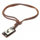 Fashion Cool Punk Style Pendant Necklace - Brown (Sagittarius Theme)