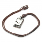 Fashion Gemini Style Leather Necklace - Brown