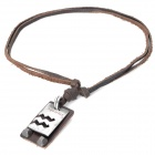Fashion Cool Punk Style Pendant Necklace - Brown (Aquarius Theme)