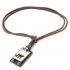 Fashion Cool Punk Style Pendant Necklace - Brown (Virgo Theme)