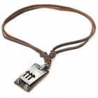 Fashion Cool Punk Style Pendant Necklace - Brown (Scorpio Theme)