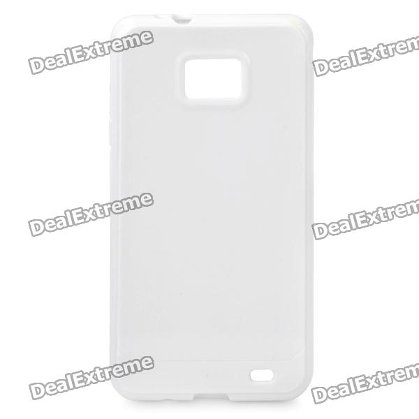 Protective TPU Case for Samsung i9100 Galaxy S2 - White 8x zoom telescope lens back case for samsung i9100 black
