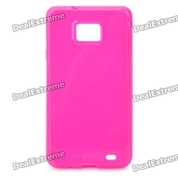 Protective TPU Case for Samsung i9100 Galaxy S2 - Rosy 8x zoom telescope lens back case for samsung i9100 black