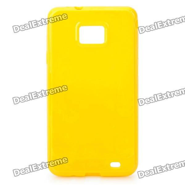 Protective TPU Case for Samsung i9100 Galaxy S2 - Yellow 8x zoom telescope lens back case for samsung i9100 black