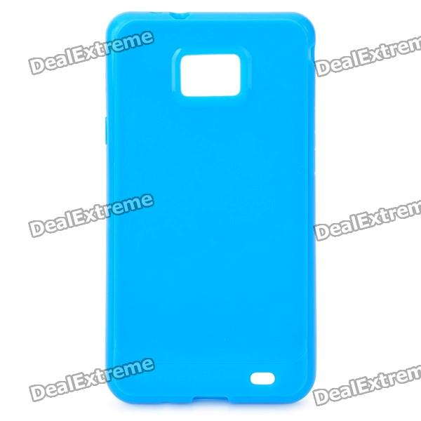 Protective TPU Case for Samsung i9100 Galaxy S2 - Azure charging docking station for samsung galaxy s2 i9100 black