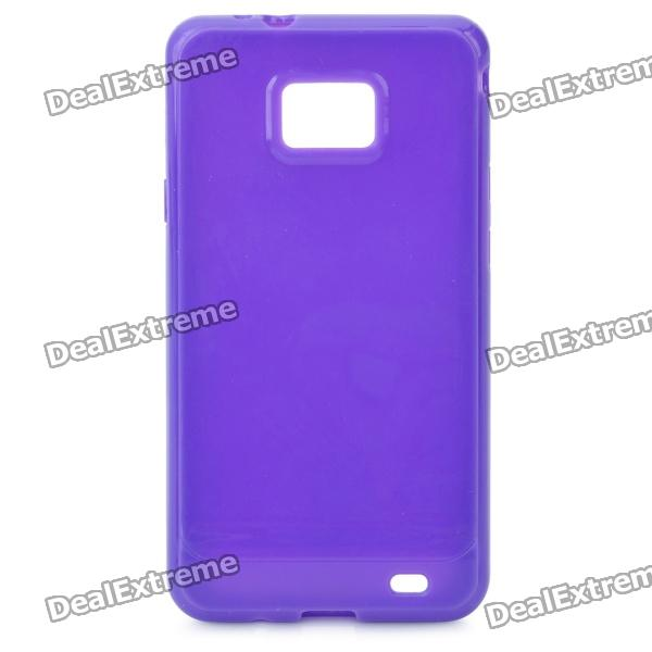 Protective TPU Case for Samsung i9100 Galaxy S2 - Purple charging docking station for samsung galaxy s2 i9100 black