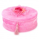Elegant Velvet Jewelry Storage Box - Pink