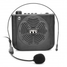 KM-675 Multi-media Speakers w/ 3.5mm Port, TF/Flash Drive and Micro Phone Included - Black