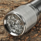 9-LED 1-Mode White Flashlight - Silver (3 x AAA)