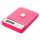 Electronic Kitchen Scale w/ Display Monitor - Violet Red (3kg / 1g)