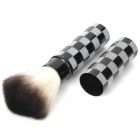 Professional Retractable Cosmetic Make-Up Foundation Soft Brush - Black + Grey