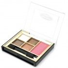 Professional 4-Color Eye Shadow + Rouge + Mirror Case Makeup Kit