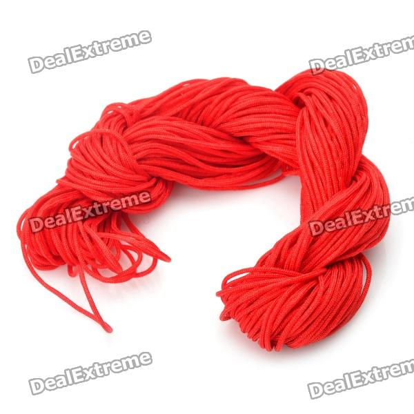 Long Red String for Weave Bracelet DIY (30M)