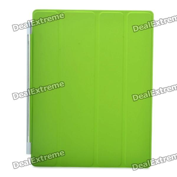 Protective PU Leather Smart Cover for New iPad - Green