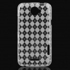 Protective TPU Back Cover Case for HTC One X - Transparent White