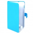 Protective Leather Case Cover with Card Slot for Samsung Galaxy Note i9220 - Blue