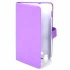 Protective Leather Case Cover with Card Slot for Samsung Galaxy Note i9220 - Purple