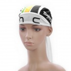 Cycling Bicycle Bike Outdoor Sports Head Scarf Cap Hat - Black + White + Green + Yellow