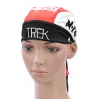 Cycling Bicycle Bike Outdoor Sports Head Scarf Cap Hat - Black + White + Red