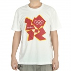 London 2012 Olympic Logo T-shirt - White (Size-XXL)