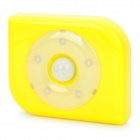 PIR Motion Activated 4-LED White Light Night Lamp - Yellow (3 x AAA)