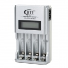 "1.9"" LCD AA / AAA Battery Charger - Silver"