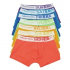 7 Colors One Week Set Men's Cotton Underpants (Size XL)