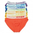 7 Colors One Week Set Men's Cotton Underpants (Size XXL)