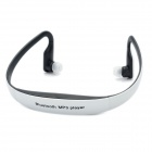 BH-505SD Bluetooth V2.1 Sports MP3 Player Headset w/ TF - White