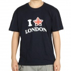 "London Olympic ""I Love London"" Logo T-shirt - Deep Blue (Size-L)"