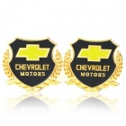 Chevrolet MOTORS Car Decorative Sticker - Golden + Black