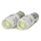 BX9S 1W 6000-6500K 80-90LM 1-LED White Light Bulbs for Car - Pair (12V)