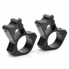25mm Flashlight Laser Sight Mount Holder Clip Clamp for 10mm Rail - Black (Pair)