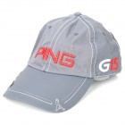 Stylish Water Resistant Baseball Cap Hat with Magnetic Ball Marker - Ping Logo (Deep Grey)