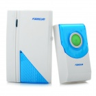 Wireless Digital Doorbell - White + Blue (32-Melody Choice)