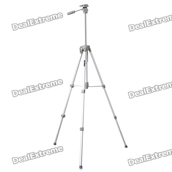 K-2015 Retractable Aluminum Alloy 4-Section Tripod Stand - Silver + Grey (Max. Load-8KG) 27 retractable aluminum alloy tactical spring loaded bipod rifle stand for m4 m16 max 80kg