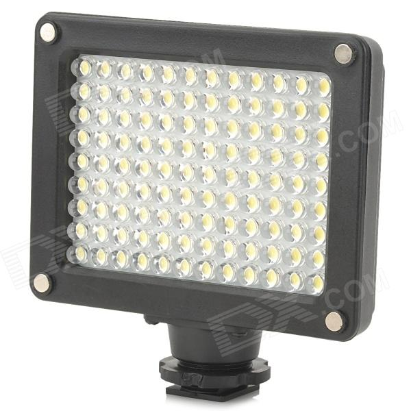 7.6W 5600K / 3200K 520LM 108-LED Video Light - Black (4 x AA)