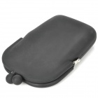 Stylish Silicone Purse Wallet - Black