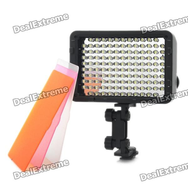 7.6W 5400 K/3200 K 540-Lumen 126-LED Video Light - musta (6 x AA)